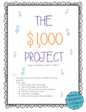 The $1,000 Project - Adding & Subtracting Whole #s and Decimals