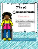 The 10 Commandments Cursive Handwriting Practice