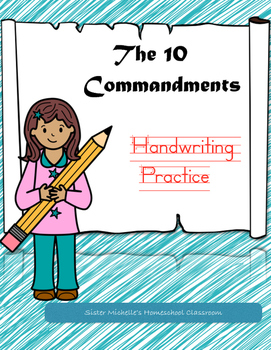 The 10 Commandments Handwriting Practice