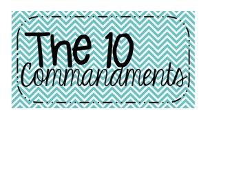 The 10 Commandments Posters