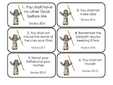 The 10 Commandments Printable Flashcards. Preschool-Kindergarten Bible.