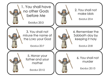 image regarding 10 Commandments Printable titled The 10 Commandments Printable Flashcards. Preschool-Kindergarten Bible.