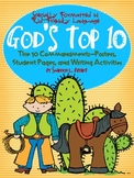 Ten Commandments for Kids (Song, Posters, Student Pages, & Writing Act.'s)