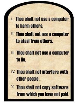 The 10 Commandments of Computer Usage