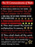 The Ten (10) Commandments of Math