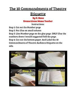 The 10 Commandments of Theatre Etiquette Foldable/Assignment