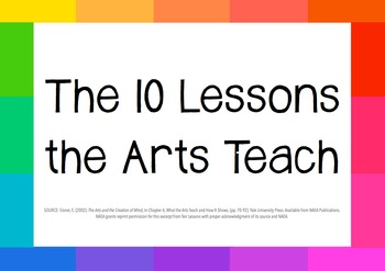 The 10 Lessons the Arts Teach - Elliot Eisner