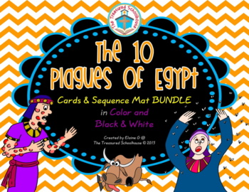 The 10 Plagues of Egypt Cards and Sequence Mat BUNDLE
