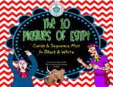 The 10 Plagues of Egypt Cards and Sequence Mat in Black & White