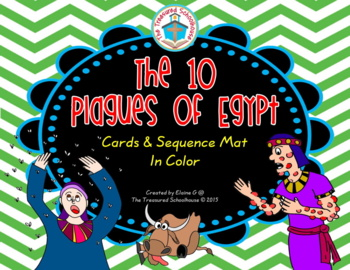 The 10 Plagues of Egypt Cards and Sequence Mat in Color
