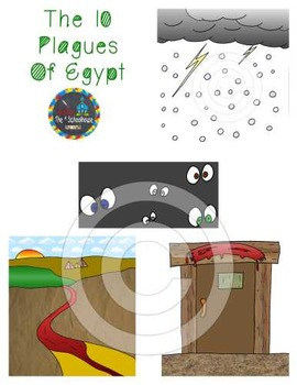 The 10 Plagues of Egypt Clipart in Color and Black & White