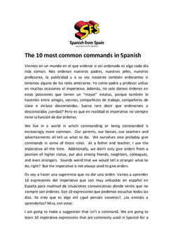 The 10 most common commands in Spanish