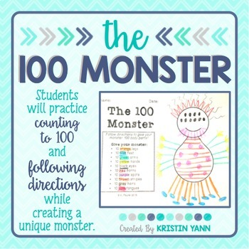 The 100 Monster: Counting to 100 / Following Directions