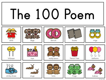 The 100 Poem: An Interactive Poem for the 100th Day of School