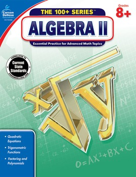 The 100+ Series Algebra II Grades 8-10 SALE 20% OFF 704386