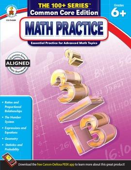 The 100+ Series Math Practice Grades 6-8 SALE 20% OFF 704389