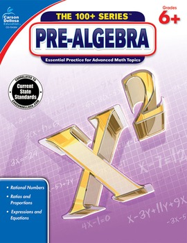 The 100+ Series Pre-Algebra Grades 6-8 SALE 20% OFF 704384