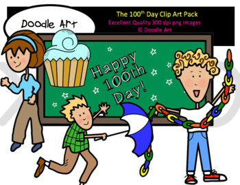 The 100th Day Clipart Pack