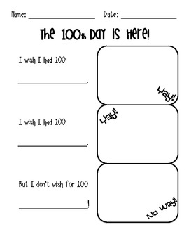 100th Day of School Activities for K-2
