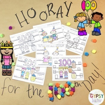 The 100th Day of School Label and Color