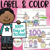 The 100th Day of School Printables -  Label and Color