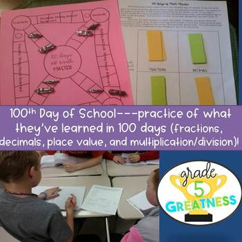 The 100th Day of School Math