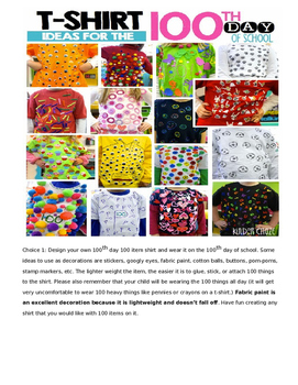 The 100th Day of School Project