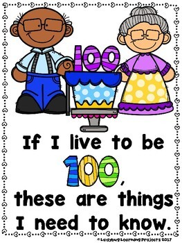 The 100th Day of School  (Sight Word Emergent Reader and Teacher Lap Book)
