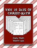 The 12 Days of Christ-Math: Daily Math Warm-ups