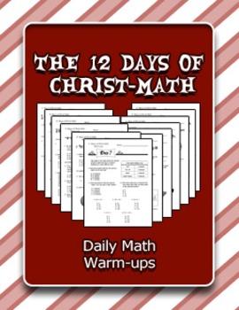 The 12 Days of Christ-Math: Daily Math Warm-ups