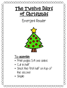 The 12 Days of Christmas Emergent Reader