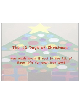 The 12 Days of Christmas Math Project