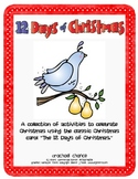 The 12 Days of Christmas-Math and Literacy Activities
