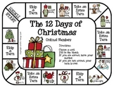 The 12 Days of Christmas -- Ordinal Numbers Game