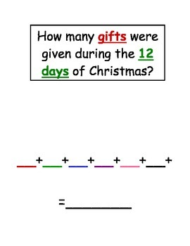 The 12 Days of Christmas Project (Student Version)