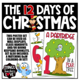 The 12 Days of Christmas - 28 page Poster Set & Coloring Sheets, USA size
