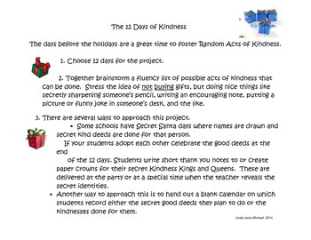The 12 Days of Kindness