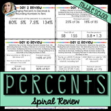 Percents Spiral Review Activity