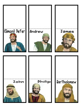The 12 Disciples of Jesus Lapbook Freebie