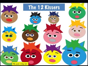 """The 12 Kissers"" Clip Art"