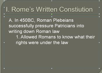 The 12 Tables of Roman Law - Roman Culture Lesson Plan
