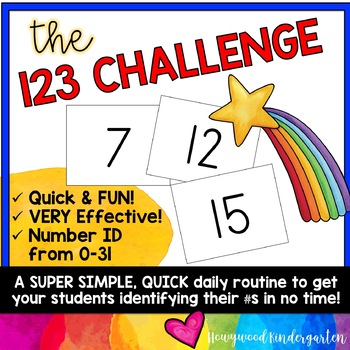 The 123 Challenge: a FREE, engaging number identification game!