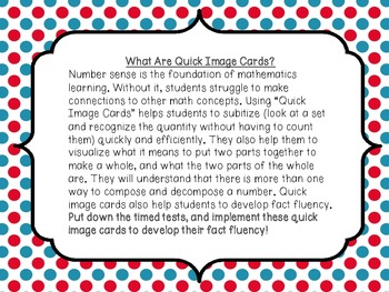 The 1,2,3's of Number Sense Quick Image Cards to Develop Essential Number Sense