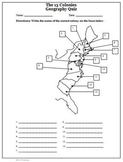 American Revolution 13 Colonies Map