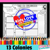13 Colonies Activity Poster