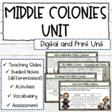 The 13 Colonies   The Middle Colonies