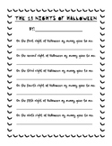 The 13 Nights of Halloween Poem