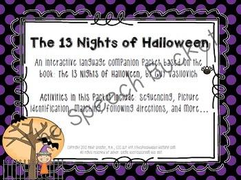 The 13 Nights of Halloween - Speech and Language Activities (Book Companion)