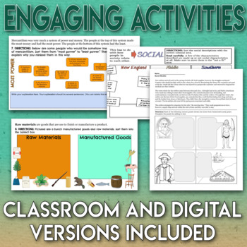 13 Colonies Unit Bundle 4 Engaging Lessons and Assessment Thirteen Colonies