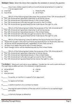The 13th, 14th, and 15th Amendments